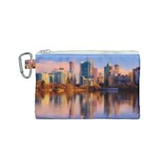 Vancouver Canada Sea Ocean Canvas Cosmetic Bag (small)