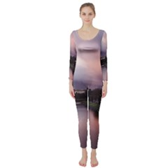 Sunset Melbourne Yarra River Long Sleeve Catsuit