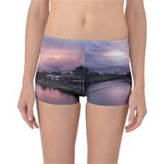 Sunset Melbourne Yarra River Boyleg Bikini Bottoms