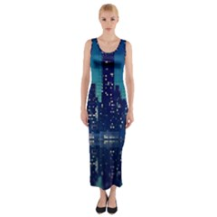 Skyscrapers City Skyscraper Zirkel Fitted Maxi Dress
