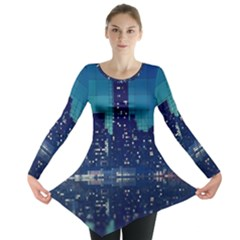 Skyscrapers City Skyscraper Zirkel Long Sleeve Tunic