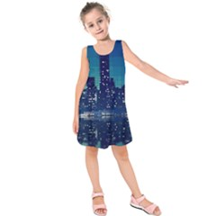 Skyscrapers City Skyscraper Zirkel Kids  Sleeveless Dress
