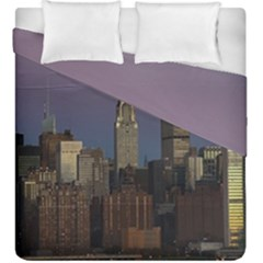 Skyline City Manhattan New York Duvet Cover Double Side (king Size)