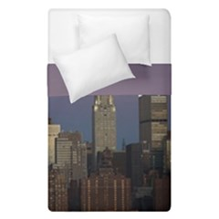 Skyline City Manhattan New York Duvet Cover Double Side (single Size) by Simbadda
