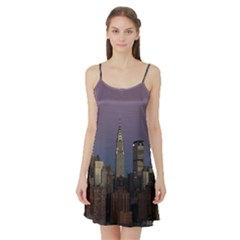 Skyline City Manhattan New York Satin Night Slip
