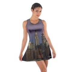 Skyline City Manhattan New York Cotton Racerback Dress