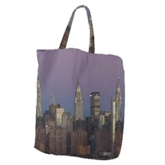 Skyline City Manhattan New York Giant Grocery Zipper Tote