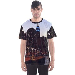 New York City Skyline Building Men s Sports Mesh Tee