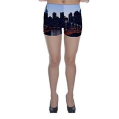 New York City Skyline Building Skinny Shorts