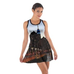 New York City Skyline Building Cotton Racerback Dress