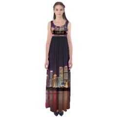 Building Skyline City Cityscape Empire Waist Maxi Dress