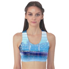 Skyscrapers City Skyscraper Zirkel Sports Bra