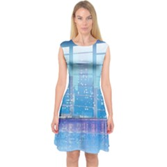 Skyscrapers City Skyscraper Zirkel Capsleeve Midi Dress