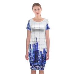 Skyscrapers City Skyscraper Zirkel Classic Short Sleeve Midi Dress