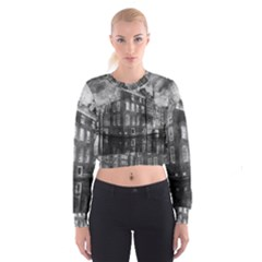 Reflection Canal Water Street Cropped Sweatshirt