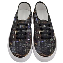 City At Night Lights Skyline Women s Classic Low Top Sneakers