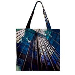 Architecture Skyscraper Zipper Grocery Tote Bag