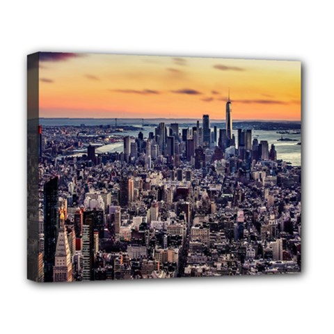 New York Skyline Architecture Nyc Deluxe Canvas 20  X 16
