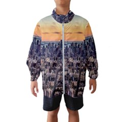 New York Skyline Architecture Nyc Wind Breaker (kids)
