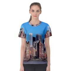 Skyscraper Architecture City Women s Sport Mesh Tee