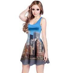 Skyscraper Architecture City Reversible Sleeveless Dress