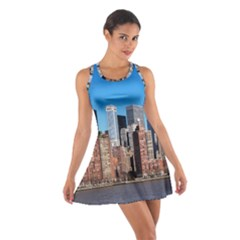 Skyscraper Architecture City Cotton Racerback Dress