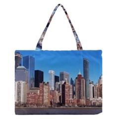 Skyscraper Architecture City Zipper Medium Tote Bag