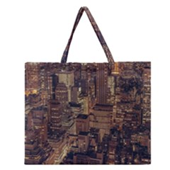 New York City Skyline Nyc Zipper Large Tote Bag