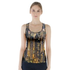 Panorama Urban Landscape Town Center Racer Back Sports Top by Simbadda