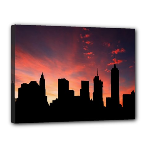 Skyline Panoramic City Architecture Canvas 16  X 12