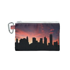 Skyline Panoramic City Architecture Canvas Cosmetic Bag (small) by Simbadda