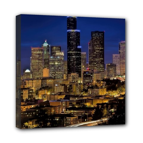 Skyline Downtown Seattle Cityscape Multi Function Bag by Simbadda