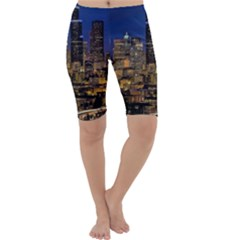 Skyline Downtown Seattle Cityscape Cropped Leggings