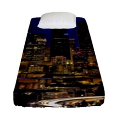 Skyline Downtown Seattle Cityscape Fitted Sheet (single Size)