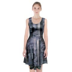 Digital Art City Cities Urban Racerback Midi Dress