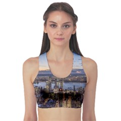 Panoramic City Water Travel Sports Bra