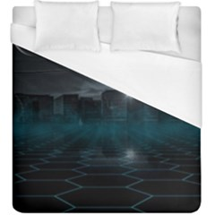 Skyline Night Star Sky Moon Sickle Duvet Cover (king Size)