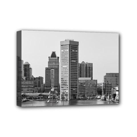 Architecture City Skyscraper Mini Canvas 7  X 5  by Simbadda