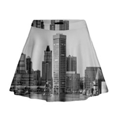 Architecture City Skyscraper Mini Flare Skirt