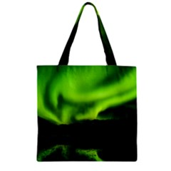 Aurora Borealis Northern Lights Sky Zipper Grocery Tote Bag