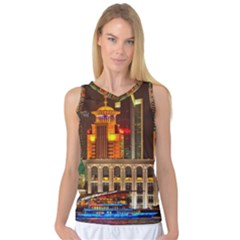 Shanghai Skyline Architecture Women s Basketball Tank Top