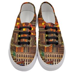 Shanghai Skyline Architecture Women s Classic Low Top Sneakers