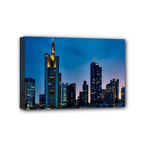 Frankfurt Germany Panorama City Mini Canvas 6  X 4