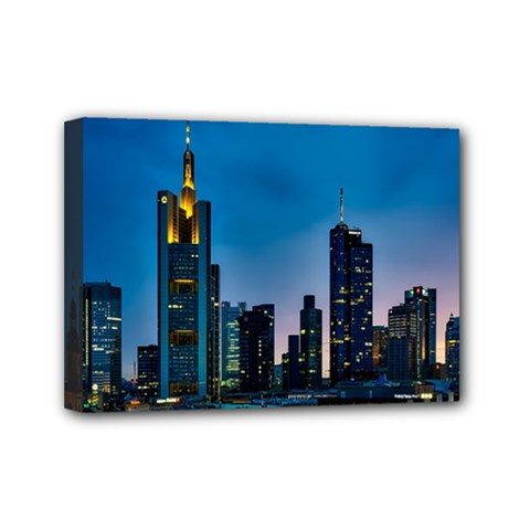 Frankfurt Germany Panorama City Mini Canvas 7  X 5