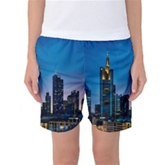 Frankfurt Germany Panorama City Women s Basketball Shorts