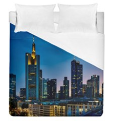 Frankfurt Germany Panorama City Duvet Cover (queen Size) by Simbadda