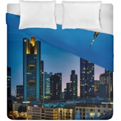 Frankfurt Germany Panorama City Duvet Cover Double Side (king Size)