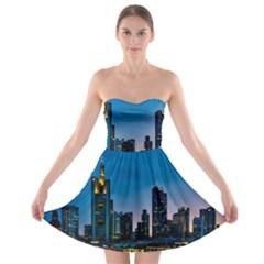 Frankfurt Germany Panorama City Strapless Bra Top Dress