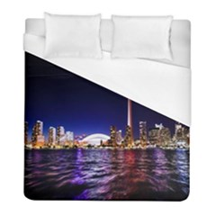 Toronto City Cn Tower Skydome Duvet Cover (full/ Double Size)