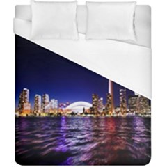 Toronto City Cn Tower Skydome Duvet Cover (california King Size)